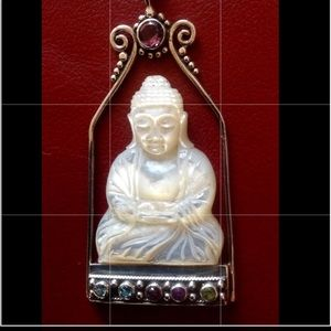 Jewelry - Pendent Buddha Silver ,Mother of pear and real gem